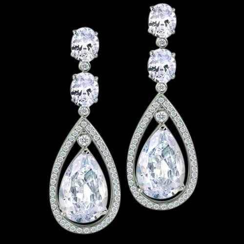 4 Carat Diamond Dangle Earring Pair Pear Diamond Drop Earring Dangle Earrings