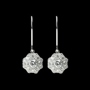 4 Carat Diamonds Drop Earring White Gold Lady Jewelry Earrings Drop Earrings
