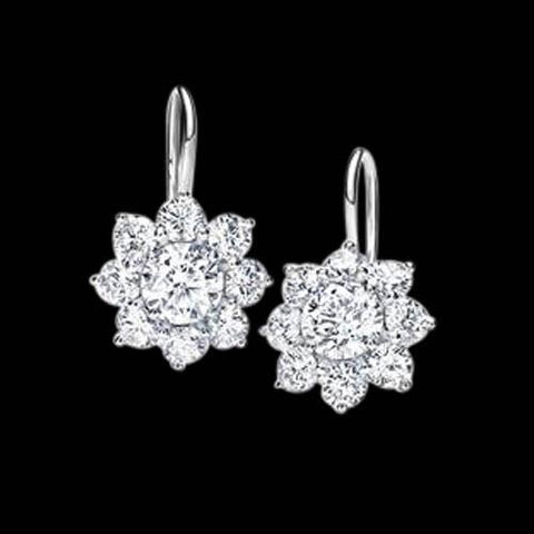 4 Carat Diamonds Earring Pair Dangle Earring White Gold 14K Dangle Earrings