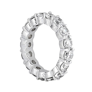 4 Carat F Vs1 Diamond Gold Engagement Band Ring Beautiful Eternity Band