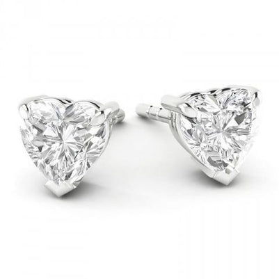 4 Carats Heart Cut Diamond Stud Earrings Stud Earrings