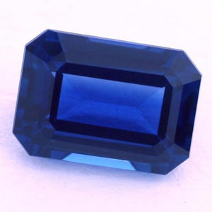 4 Carats Natural Aaa Emerald Cut Loose Ceylon Blue Sapphire Gemstone Gemstone Loose