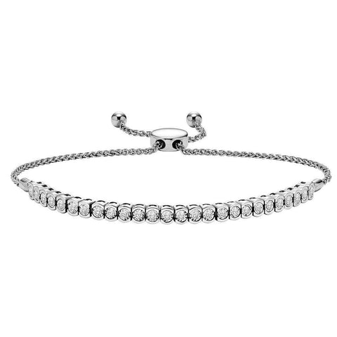 4 Carats White Gold Diamond Bracelet Mens Women Jewelry Tennis Bracelet