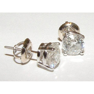 4 Ct H Vs1 Diamonds Beautiful Stud Earrings Platinum Stud Earrings