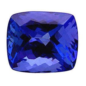 4 Ct Loose Cushion Cut Natural Tanzanite Aaa Gemstone Gemstone Loose