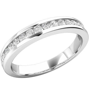 4 Ct Round Diamond Ladies Eternity Wedding Band Solid White Gold 14K Eternity Band