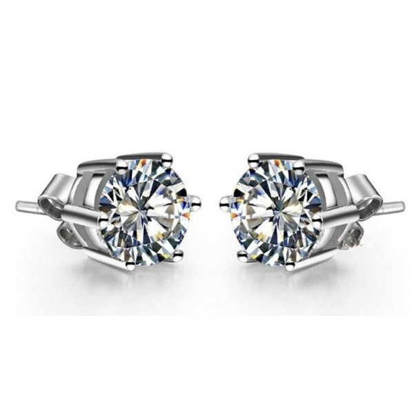 4 Ct Sparkling Round Cut Diamonds Women Stud Earrings White Gold 14K Stud Earrings