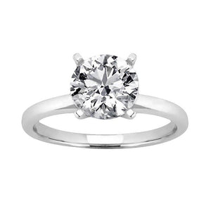 4 Prong Diamond Women Solitaire Jewelry Ring White Gold 3 Carats Solitaire Ring