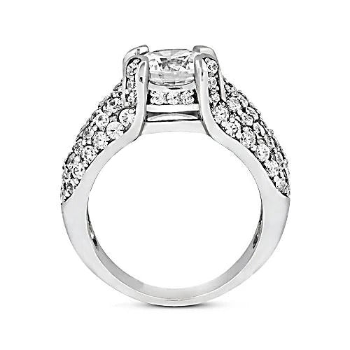 Engagement Ring 4.01 Carats Diamond White Gold 14K Engagement Ring