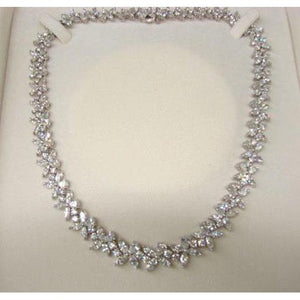 40 Ct Small Ladies Necklace Sparkling Diamonds New Necklace