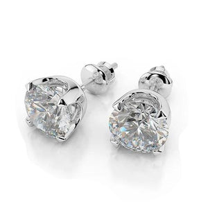 4.00 Ct Sparkling Round Cut Diamonds Women Studs Earrings White Gold Stud Earrings