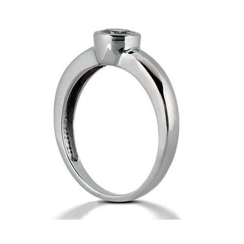 4.02 Carat G Si1 Diamond Solitaire Ring White Gold Ring Solitaire Ring