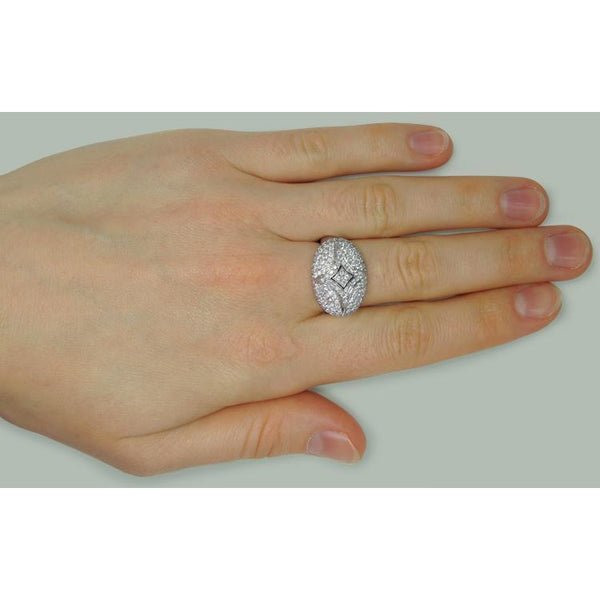 1.27 Carats Round Diamond Engagement Ring White Gold 14K Engagement Ring