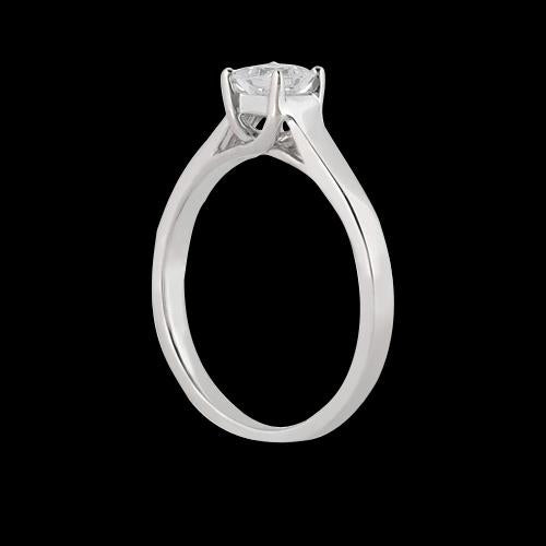 Solitaire Ring 1.51 Carat Princess Cut Diamond Solitaire Ring Wedding Jewelry Gold