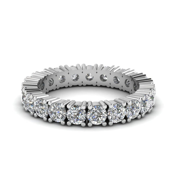 4.20 Ct Women Round Diamond Eternity Band Ring Solid Eternity Band