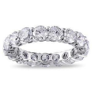 4.25 Ct Sparkling Diamonds Eternity Wedding Band 14K White Gold Eternity Band