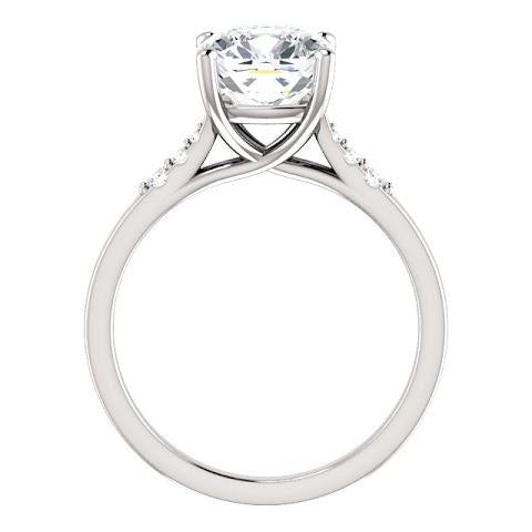 Solitaire Ring with Accents Solitaire With Accents Cushion Diamond Engagement Ring