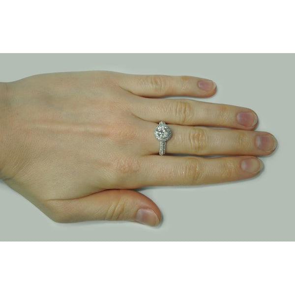 2.50 Ct Diamond Solitaire With Accents Ring Solitaire Ring with Accents