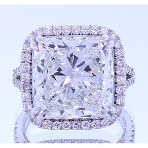 4.50 Carats Cushion Cut Diamond Halo Setting Anniversary Ring Jewelry Halo Ring