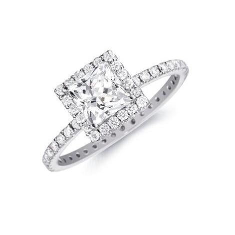4.50 Ct Diamonds Engagement Halo Ring White Gold 14K Halo Ring