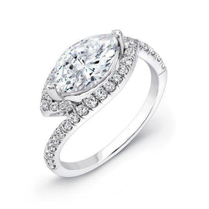 4.50 Ct Marquise Halo And Round Cut Diamonds Wedding Ring Halo Ring