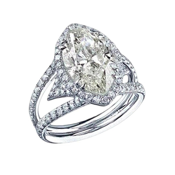 4.51 Carat White Gold F Vs1 Halo Transcend Style Diamond Ring Halo Ring