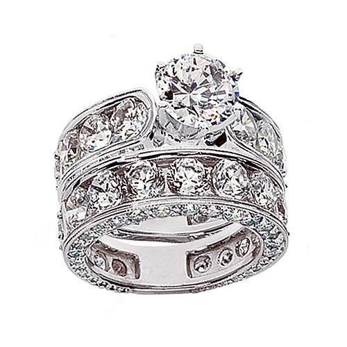 4.51 Carats Diamonds Engagement Ring Band Set Gold Fancy Ring Engagement Ring Set
