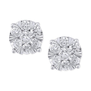 4.60 Ct Round Cut Sparkling Diamonds Ladies Stud Earring White Gold Stud Earrings