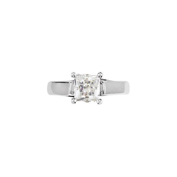Solitaire Ring 1.55 Carat Prong Setting Princess Diamond Solitaire Ring