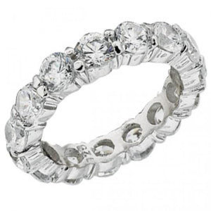 4.80 Carats Round Diamond Eternity Band Jewelry Gold 14K Eternity Band