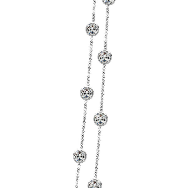 "9.30 Ct Diamonds By Yard Necklace Double 18""/16"" Inch Chain Chains Necklace"