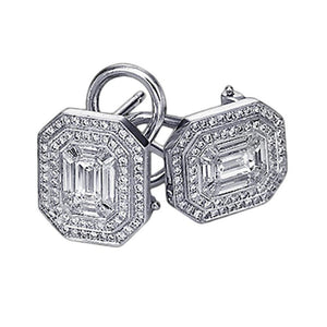 5 Carat Diamond Stud Earring Pair Emerald Cut Earring Stud Earrings