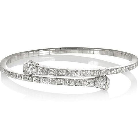 5 Carats Beautiful Round Diamond Tennis Bracelet White Gold Tennis Bracelet