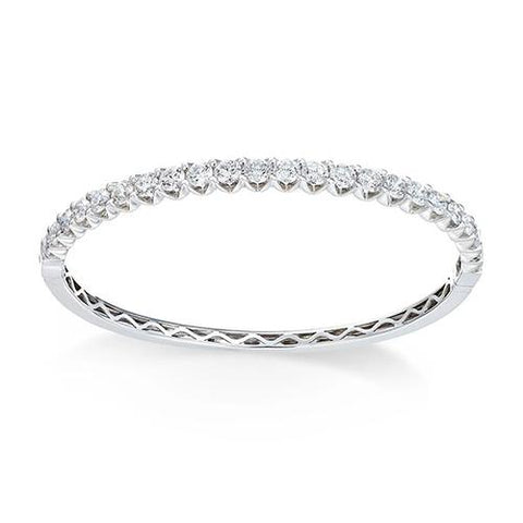 5 Carats Prong Set Round Diamond Tennis Bracelet White Gold 14K Tennis Bracelet