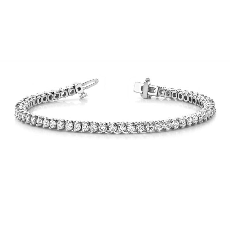 5 Carats Round Diamonds Tennis Bracelet White Gold 14K Jewelry New Tennis Bracelet