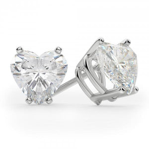 5 Ct Diamond Stud Earring Heart Cut Classic Fine White Gold 14K Stud Earrings
