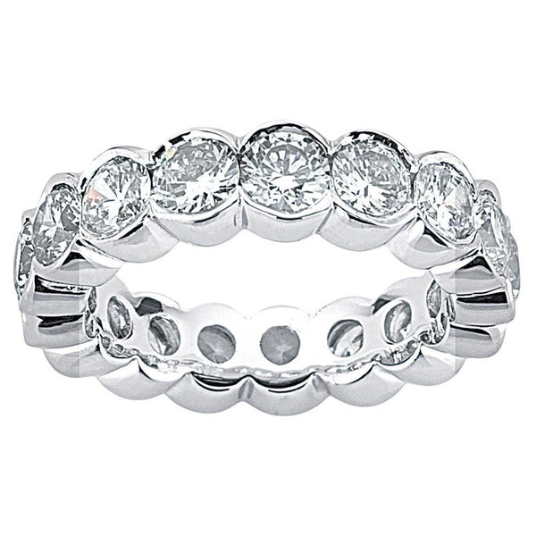 5.1 Carat. F Vs1 Diamonds White Gold Eternity Engagement Band New Eternity Band