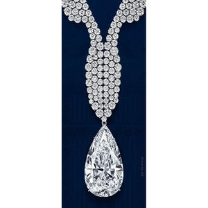 52 Ct Pear With Round Cut Diamond Fine Necklace Pendant White Gold Pendant