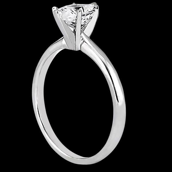 Solitaire Ring 1 Carat Oval Cut Diamond Solitaire Anniversary Ring