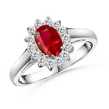5.5 Carats Oval Cut Ruby Diamond Ring White Gold Lady Men Jewelry Gemstone Ring