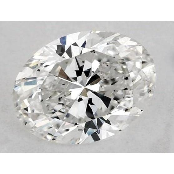 5.5 Carats Oval Diamond Loose F Si1 Good Cut Diamond