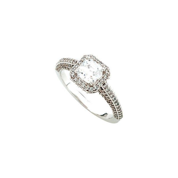 2.31 ct. diamonds solitaire with accents ring jewelry new