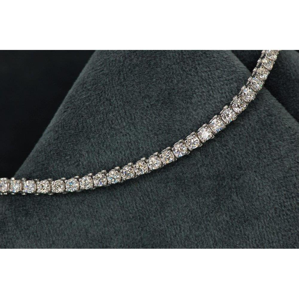 5.75 Ct Round Cut Diamond Tennis Bracelet 14K White Gold Tennis Bracelet