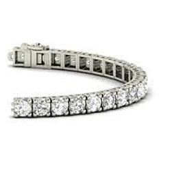 5 Ct Round Cut Diamond Tennis Bracelet White Gold Jewelry
