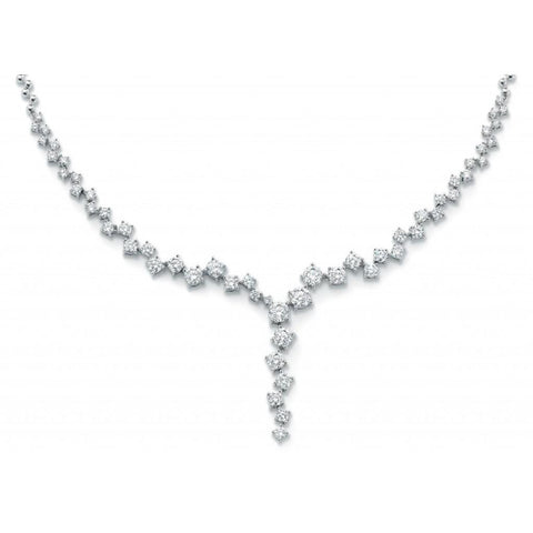 6 Carats Round Diamond Women Jewelry Necklace Solid White Gold 14K Necklace