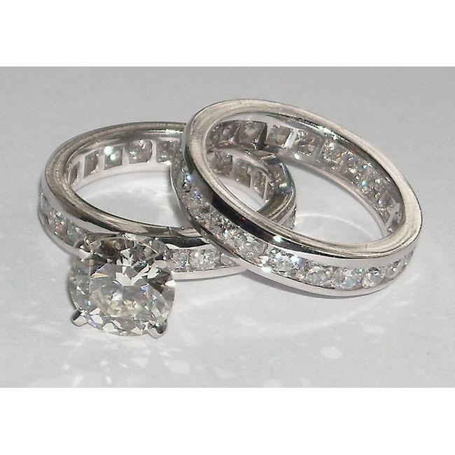 6.01 Carats Diamond Engagement Fancy Ring And Band Set Engagement Ring Set