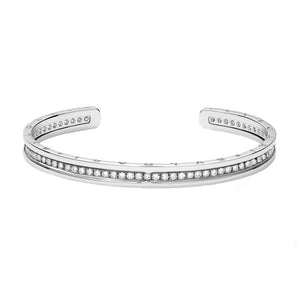 6.4 Ct Round Diamond Women Cuff Bangle Bracelet 14K White Gold Cuff Bracelet