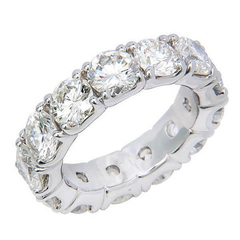 6.5 Ct Round Four Prong Set Diamond Eternity Band Women Gold Jewelry Eternity Band