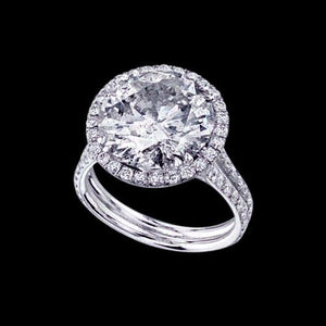 6.75 Ct. Diamonds Fancy Ring Halo Jewelry Engagement Anniversary Gold Halo Ring