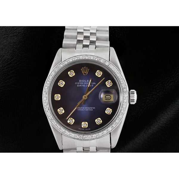 Rolex Blue Diamond Dial Jubilee Bracelet Ss Rolex Datejust Watch
